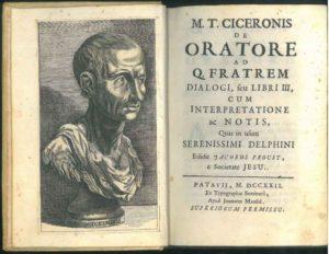 Consigli oratori di Marco Tullio Cicerone