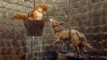 Il lupo e la volpe - Jean de la Fontaine