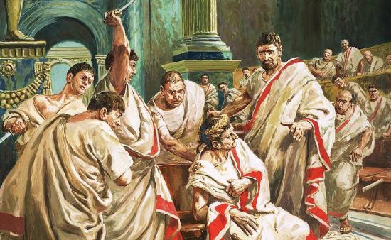 Morte di Giulio Cesare, narrata da Svetonio